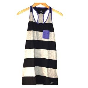 Nike gray and navy striped casual dress size small